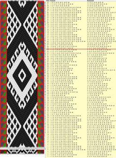 """""""Iraní"""" 46 tarjetas, 5 colores, repite cada 64 movimientos // sed_788 diseñado en GTT༺❁"""