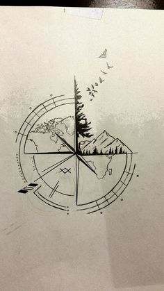 Best Travel Drawing Compass Tattoo Designs Ideas Tattoos And Body Art tattoo design ideas Trendy Tattoos, New Tattoos, Body Art Tattoos, Sleeve Tattoos, Tatoos, Dragon Tattoos, Beach Tattoos, Small Men's Tattoos, Hand Tattoos