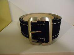 New Women Banana Republic Belt Small Black Genuine Italian Leather #246277 Suede #BananaRepublic #Sitsbelowhip