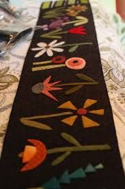 Image result for winter wool appliques runners+free patterns