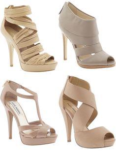 Nude heels - love them all