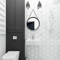 Bathroom Storage & Bathroom Decor: black and white bathroom Bathroom Toilets, Bathroom Renos, Bathroom Interior, Modern Bathroom, Eclectic Bathroom, Bathroom Black, Compact Bathroom, Bamboo Bathroom, Shower Bathroom