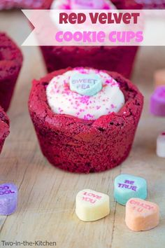 Red Velvet Cookie Cups  Two in the Kitchen viv