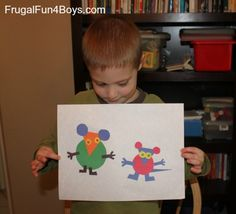 Preschool Shape Activities {To go with Mouse Shapes by Ellen Stoll Walsh}