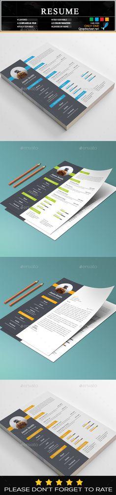 #Resume - Resumes Stationery Download here: https://graphicriver.net/item/resume/19709769?ref=Suz_562geid