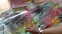 **Glimmer Mists Backgrounds Technique #1 - saran wrap background