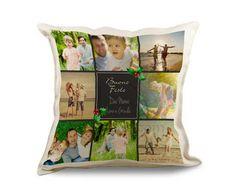 personalizza il cuscino in juta collage