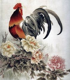 La peinture chinoise - Coqs, poules, poulets (33 photos)