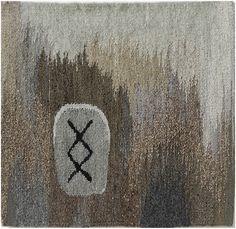 "Maj-Britt Mobrand (Berkeley, by way of Stockholm) __ Inguz  Tapestry (2012)  21"" x 21"""