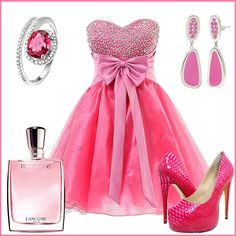 Pink short prom dress,so sweet!  Find More: http://www.imaddictedtoyou.com