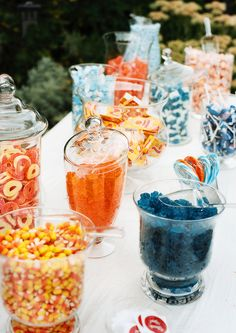 Orange and Blue Candy Bar @Kara Elizabeth