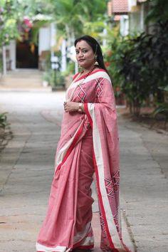 Pink cotton Gero saree – Heeya
