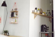One Happy Mess - DIY shelving (bookmark for quick office solution.