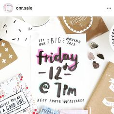 Our lovely friend @onrshop is having a moving sale and you can shop it right here on Instagram! Head over to @onr.sale and follow to get in on all those yummy handmade bargains