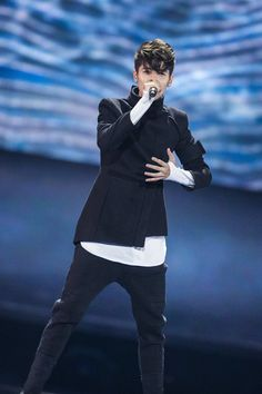 "Kristian Kostov Photos - Kristian Kostov representing Bulgaria performs the song ""Beautiful Mess"" during the rehearsal for the second semi final of the 62nd Eurovision Song Contest at International Exhibition Centre (IEC) on May 11, 2017 in Kiev, Ukraine. The final of this year's Eurovision Song Contest will be aired on May 13, 2017. - Rehearsal for the 2nd Semi Final - Eurovision Song Contest 2017"