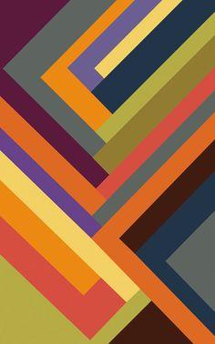 Multi Colored Geometric Art Print - Line Art -Canvas Print - Colorful, Modern Wall Art