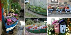 15 Creative Low Budget DIY Garden Planters - http://www.amazinginteriordesign.com/15-creative-low-budget-diy-garden-planters/