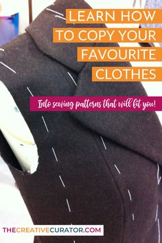 Sewing your own clothes is amazing, and being able to clone clothes that you love into sewing patterns that fit you is even better! Learn how to copy you favourite clothes into sewing patterns that fit you just as good as the clothing!