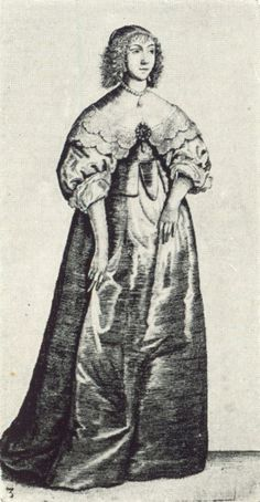 Women's Fashions of the 17th Century: Drawing 3