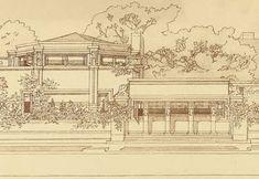 """Frank Lloyd Wright, """"Wasmuth Porfolio,"""" 1910"""