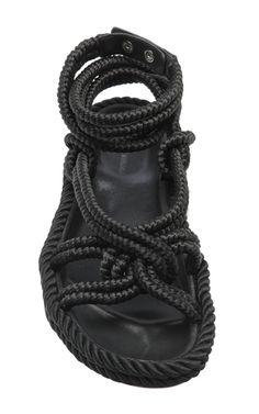 Black Lou Sandal by ISABEL MARANT for Preorder on Moda Operandi