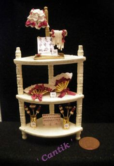 1:12 Scale Hand-Made Miniature SHABBYCHIC LADIES ACCESSARIES SHOP CORNER DISPLAY