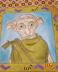 Termine Arttherapie Harrypottercolouringbook Dobby
