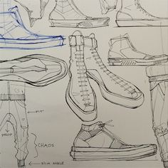 Footwear Sketches | Aaron Street | ConceptKicks