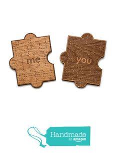 You & Me Puzzle Piece Valentine's Day Wood Card from Cardtorial https://www.amazon.com/dp/B016WZ70VI/ref=hnd_sw_r_pi_dp_u7RKyb40E26Q4 #handmadeatamazon