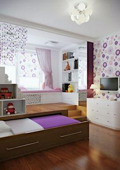 la meilleure chambre de fille ado de couleur blanc et violet