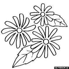 Rudbeckia Flower Coloring Page