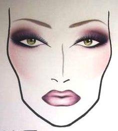 COSMETICA. Dit is een facechart van mijn favoriete make up merk MAC  Cosmetics. In een simpele facechart zoals deze kan je een hele look laten zien.