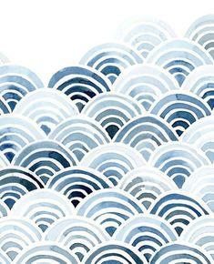Japanese Blue Wave Art Print