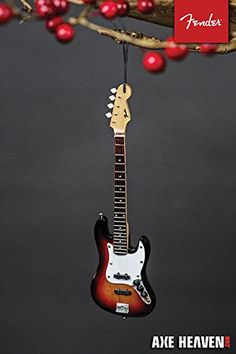 Fender Jazz Bass guitar christmas ornament  Guitar Ornaments