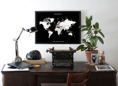 Minimal World Map poster - black&white - maps • posters • prints - Bold Tuesday – BOLD TUESDAY