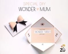 zü: DIY Wonder Mum carte de fête des mère ou d'anniversaire