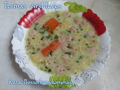 Tormás virslileves (Gluténmentesen is) Cheeseburger Chowder, Soup, Soups