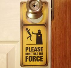 Star Wars Jedi Force Door Sign and Dry Erase Board by AnimeItems, $3.80