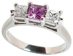 Pink Sapphire And Diamond in White Gold, Engagement rings from Petersens Jewellers Merivale,Christchurch
