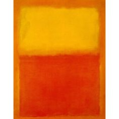 Mark Rothko - Orange and Yellow ❤ liked on Polyvore featuring backgrounds, art, orange, abstract art and paintings