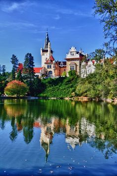 Konopiště Chateau, Czech Republic. (I used to swim in this lake when I was little girl)