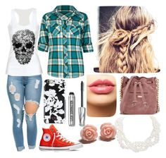 """Flannel #3"" by goblincat5150 ❤ liked on Polyvore featuring Full Tilt, Converse, Elizabeth and James, LASplash, Bare Escentuals, Isaac Mizrahi and Humble Chic"