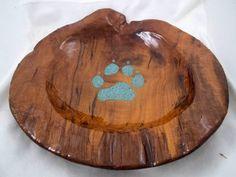 Große handgefertigte Teak Holz Schale mit von stampedeonline