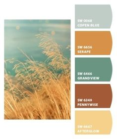 Living room colors by Kley Got that beachy calm vibe Living Room Color Schemes, Living Room Colors, New Living Room, Interior Wall Colors, Interior Paint, Bathroom Colors, Kitchen Colors, Room Paint, Hallway Paint