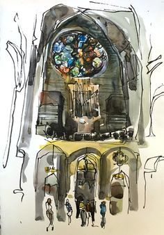 Laurie Wigham arranged a wonderful sketchcrawl in San Francisco a couple of weeks ago. Jane Blundell and Liz Steel were both in San Francisco that day and it was a wonderful way for San Francisco B…
