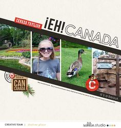 Eh Canada DISNEY digital scrapbooking layout created by glazefamily3 featuring Project Mouse (World): Canada by Sahlin Studio and Britt-ish Designs