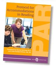 PAR (Protocol for Accommodations in Reading) provides you with all you need to systematize your procedures for making data-based reading accommodation recommendations for students. By Dr. Denise DeCoste, author of Developing A Writing Productivity Profile, and Linda Bastiani Wilson, via Don Johnston. Image: Book cover.