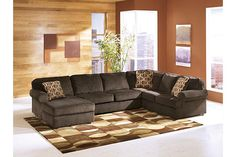 Chocolate Vista 3-Piece Sectional View 1