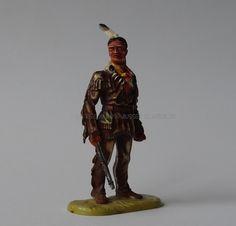 Hausser Elastolin Ref : 7538 Intschu-tschuna debout, père de Winnetou 1ère peinture