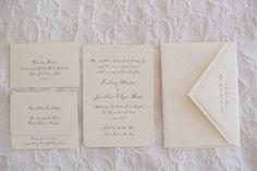 Simple and Elegant  Letterpress Wedding Stationery